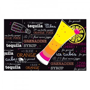 Turbo Tequila Sunrise black